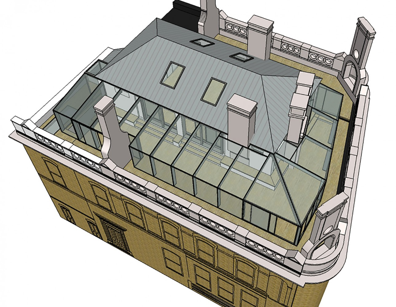 Peter Morris Architects - MILE END - grade II listed building glass roof contemporary