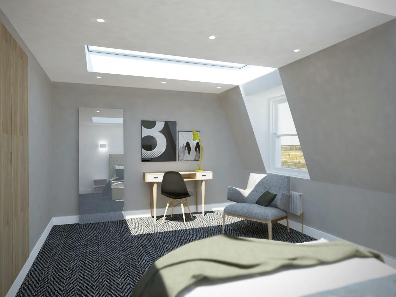 Peter Morris Architects - 6 FOULDEN ROAD loft bedroom